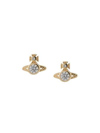 Shop gold Vivienne Westwood London stud earrings with Express Delivery - Farfetch