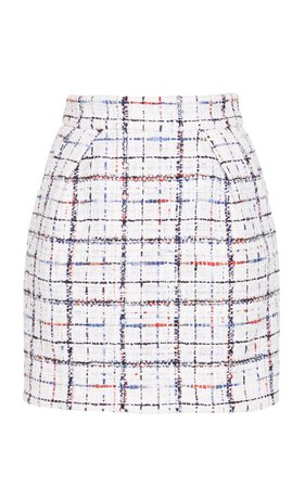 Alexandre Vauthier Plaid Crepe Mini Skirt