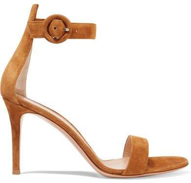 Portofino 85 Suede Sandals - Tan