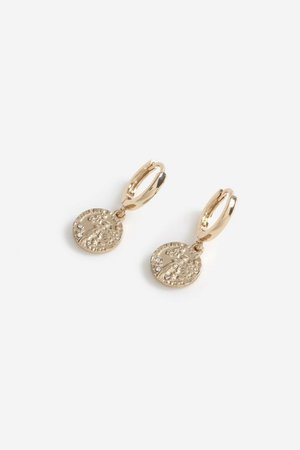 **Freedom Finer Coin Drop Earrings | Topshop