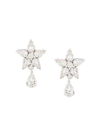 Jennifer Behr Celina Crystal Earrings 50RA22 Silver | Farfetch