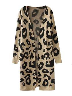 'Reilly' Leopard Print Open Cardigan (4 Colors) - Goodnight Macaroon