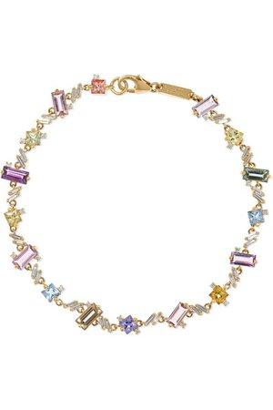 Suzanne Kalan   18-karat gold, sapphire and diamond bracelet   NET-A-PORTER.COM