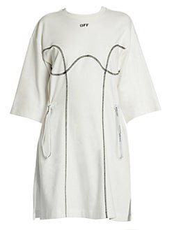 Off-White Cotton T-shirt Dress