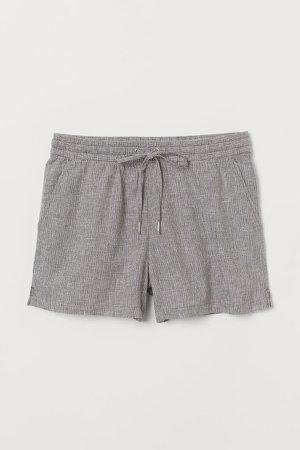 Linen-blend Shorts - Green