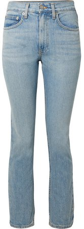 Wright High-rise Straight-leg Jeans - Light denim