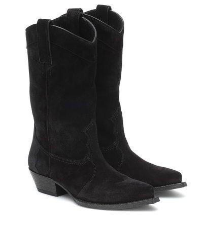 Saint Laurent - Lukas Western suede boots   Mytheresa