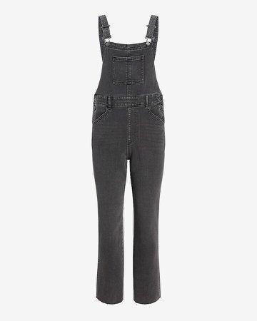 Black Straight Jean Overalls