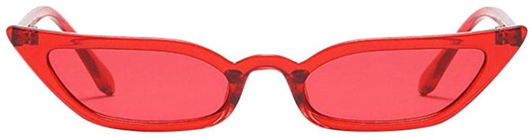JoyJay Women Vintage Retro Cat Eye Sunglasses Retro Small Frame UV400 Eyewear Fashion (Red): Amazon.co.uk: Clothing