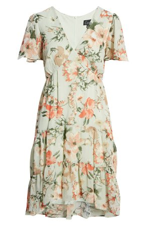 Connected Apparel Watercolor Floral Sheath Dress | Nordstrom
