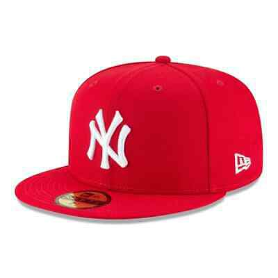 New Era 59Fifty New York Yankees SC WH Fitted Hat (Red/White) Men's MLB Cap   eBay