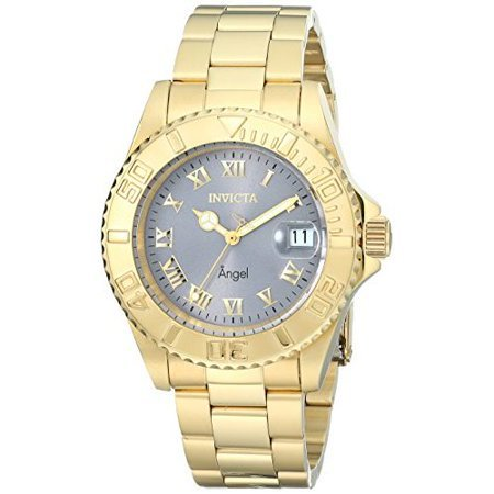 Invicta - Women's 14366 Angel Analog Display Swiss Quartz Gold Watch - Walmart.com