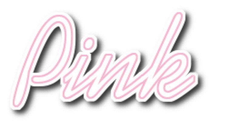 pink text