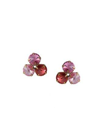 Jennifer Behr Levi crystal-embellished Earrings - Farfetch