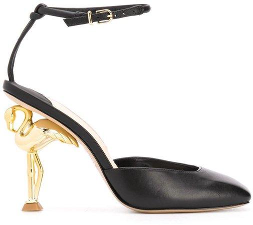 Flo flamingo leather pumps