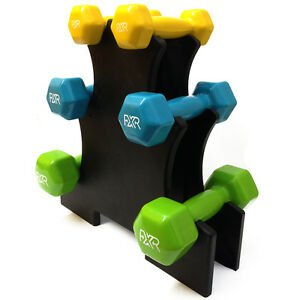 FXR 12KG VINYL HAND DUMBBELL WEIGHTS SET WITH HOLDER FITNESS GYM WORKOUT WEIGHT 5060442867758 | eBay