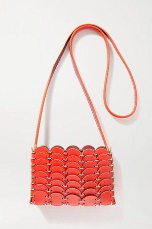 Leather Shoulder Bag - Red