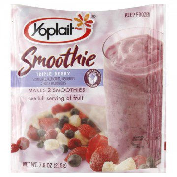 Yoplait Triple Berry Smoothie Mix Frozen » Beverages » General Grocery
