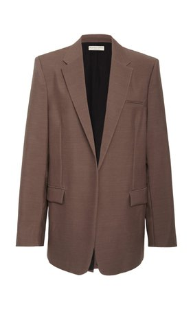 Rounded Hem Wool Blazer by Bottega Veneta | Moda Operandi
