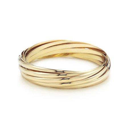 Paloma's Melody nine-band bangle bracelet in 18k gold, medium