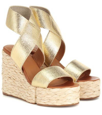 Aurore leather wedge sandals