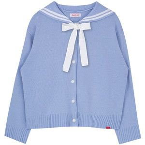HEART CLUBSailor Collar Button Front Cardigan