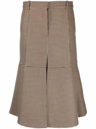 Stella McCartney houndstooth-pattern Wool Skirt - Farfetch