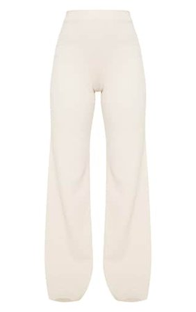Stone Wide Leg Trouser | Trousers | PrettyLittleThing USA