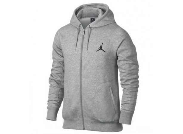 Gray Jordan Zip up Hoodie