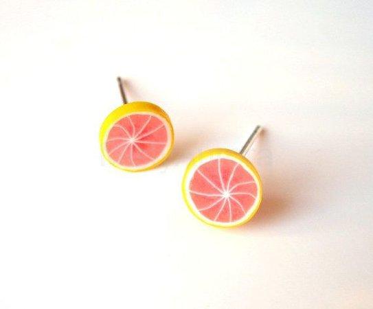 Grapefruit Stud Earrings