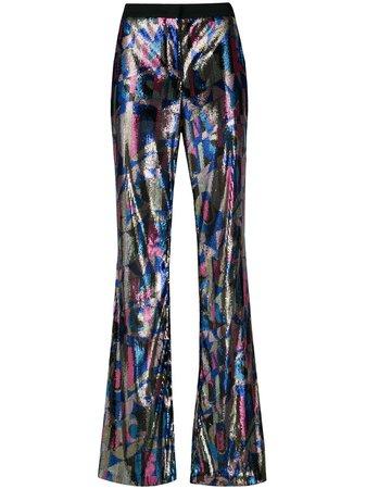 Emilio Pucci Sequin Flared Trousers - Farfetch