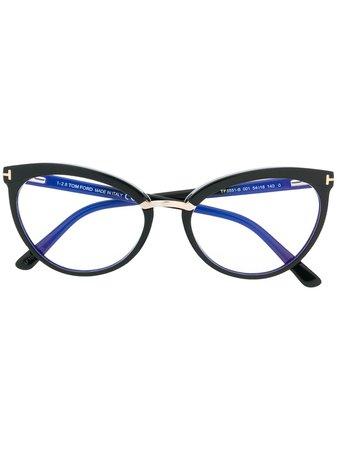 Tom Ford Eyewear Cat-Eye Frame Glasses Continuity | Farfetch.Com