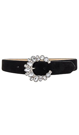 Lovers + Friends Hoyt Belt in Clear and Black | REVOLVE