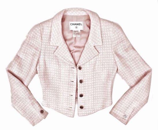 Chanel Vintage Baby Pink Tweed Jacket