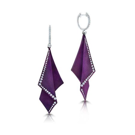 Titanium Earrings in Purple - Graziela Gems