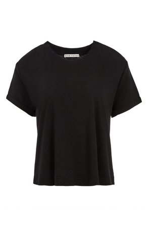 Alice + Olivia Corey Roll Sleeve T-Shirt   Nordstrom