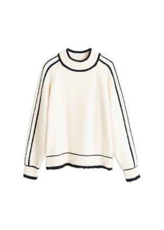 MANGO Contrasting stripes sweater