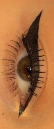 mascara and eye-liner