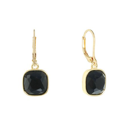 Monet Jewelry 1 Pair Simulated Pearl Drop Earrings, Color: Black - JCPenney
