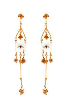 Sad Sagittarius Earrings By Samuel François | Moda Operandi