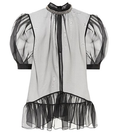Sheer silk blouse