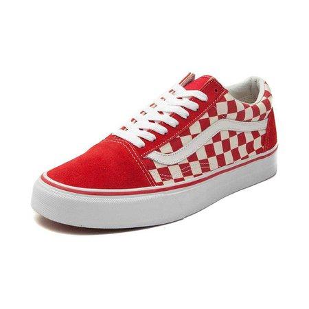 Vans Old Skool Chex Skate Shoe - red - 497098