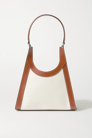 Rey Leather-trimmed Canvas Tote - Tan