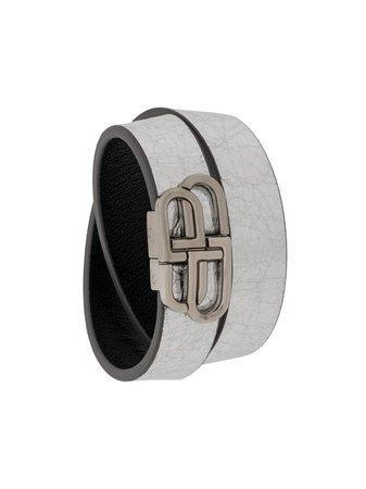 Balenciaga BB Double Wrap Bracelet - Farfetch