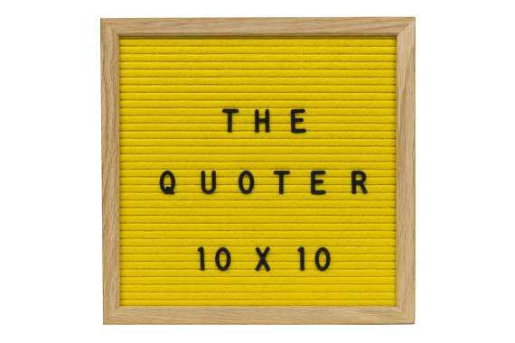 Felt Letter Board Yellow 10X10 With 346 Letters Numbers
