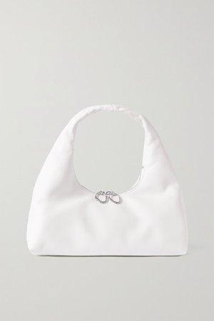 Enzo Mini Leather Shoulder Bag - White