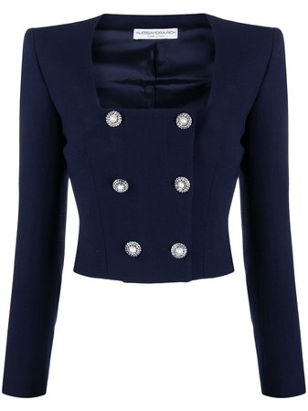 Alessandra Rich double-breasted Cropped Jacket - Farfetch