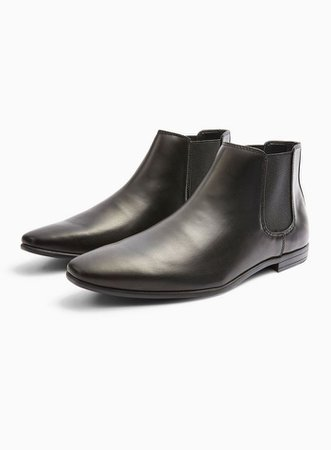 Black Leather Briar Chelsea Boots | Topman