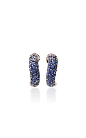 18K Gold And Sapphire Earrings by Gioia | Moda Operandi