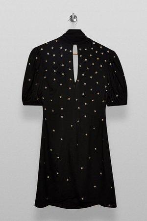 Black Star Embellished Mini Dress | Topshop